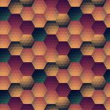 Vector grunge retro octagon background Stock Image