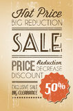 Vector grunge retro sale background Royalty Free Stock Photography