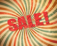 Vector grunge retro sale background. Stock Images