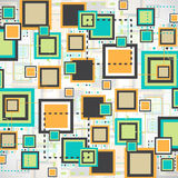 Vector grunge retro square background. Stock Image