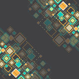 Vector grunge retro square background. Stock Photography