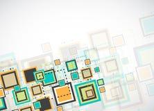 Vector grunge retro square background. Stock Image