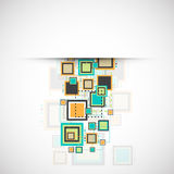 Vector grunge retro square background. Stock Images