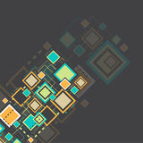 Vector grunge retro square background. Royalty Free Stock Photo