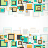 Vector grunge retro square background. Royalty Free Stock Image