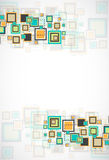 Vector grunge retro square background. Stock Photos