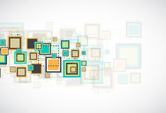 Vector grunge retro square background. Royalty Free Stock Photos