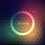 Vector grunge retro triangle spring background Royalty Free Stock Photo
