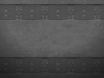Vector grunge rough dark metal background with scandinavian pattern. Iron material brutal ethnic geometric pattern norwegian style. Vector grunge rough dark Royalty Free Stock Photography