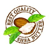 Vector grunge rubber stamp `Best quality shea butter` on a white background. Stock Photos