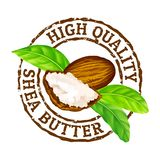 Vector grunge rubber stamp High quality shea butter on a white. vector illustration