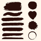 Vector grunge set of paint stains. Jpeg version also available. In gallery stock illustration