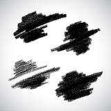 Vector Grunge Stroke. Black brush texture. Vector design elements. Art advertising template. Stroke background. Grunge abstract background. Vector set of blot Vector Illustration