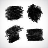 Vector Grunge Stroke. Black set brush texture. Vector design elements. Art advertising template. Stroke background. Grunge abstract background. Set of blot Stock Illustration