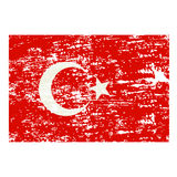 Vector grunge styled flag of turkey Royalty Free Stock Images