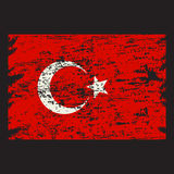 Vector grunge styled flag of turkey Royalty Free Stock Photography