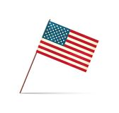 Vector grunge styled flag of usa Royalty Free Stock Photo