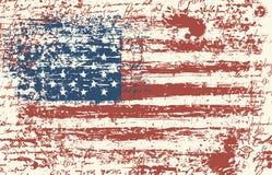 Grunge USA flag. Vintage American flag. Vector royalty free illustration