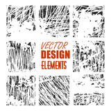 Vector grunge textures, backgrounds and brushes. Artistic collection of design elements.  vector eps 10.  Stock Photos