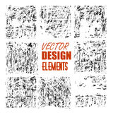 Vector grunge textures, backgrounds and brushes. Artistic collection of design elements.  vector eps 10.  Stock Photo