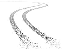 Vector grunge Tire tracks Royalty Free Stock Photo