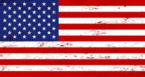 Vector grunge USA flag background. Increased by Adobe Illustrator EPS 10.0 Vector Format Stock Image