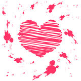 Vector grunge valentine card Stock Photo