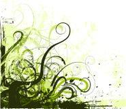 Vector grungehoek Stock Foto's