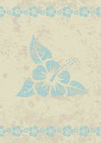 Vector grungy beige aloha background Royalty Free Stock Image