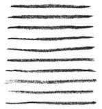 Vector grungy borstelslagen vector illustratie