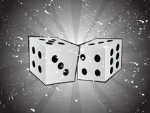 Vector grungy dice Stock Images