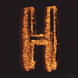 Vector Grungy Font 001. Letter H Stock Photos