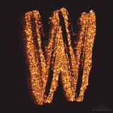 Vector Grungy Font 001. Letter W Royalty Free Stock Photos
