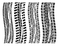 vector grungy tire prints Stock Images