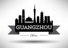 Vector Guangzhou City Skyline Design royalty free illustration