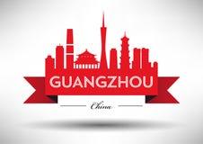 Vector Guangzhou City Skyline Design vector illustration