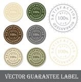 Vector Guarantee label. Illustration Royalty Free Stock Images