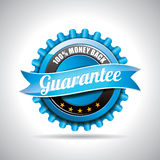 Vector  Guarantee Labels Illustration with shiny styled design on a clear background. EPS 10. Royalty Free Stock Images
