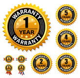 Vector guarantee sign, warranty label Stock Photos