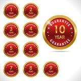 Vector guarantee sign, warranty label set for all years. Created vector guarantee sign, warranty label set for all years Royalty Free Stock Photos