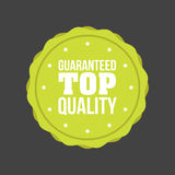 Vector Guaranteed Top Quality flat badge Sign, Round Label Royalty Free Stock Photography