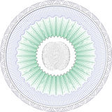 Guilloche Pattern Rosette for Certificate watermarks  certificate diploma Stock Images