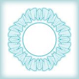 Vector Guilloche Rosette Royalty Free Stock Image
