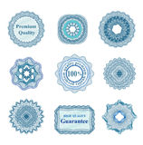 Vector guilloche rosettes Royalty Free Stock Images