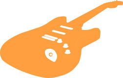 Vector Guitar. Orange Vector (rasterized) guitar Stock Photo