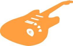 Vector Guitar. Orange Vector (rasterized) guitar stock illustration