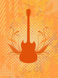 Vector guitar. Vector illustration. Easy to use and edit stock illustration