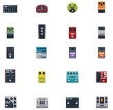 Vector Guitar Effects Icons Set Royalty Free Stock Photo