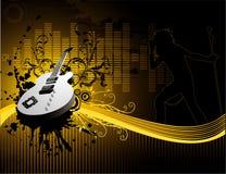 Vector guitar music illustration royalty free stock photo