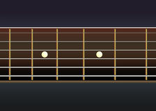 Vector guitar neck stock illustration